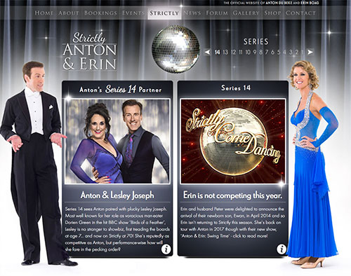 Anton & Lesley's Dancecard