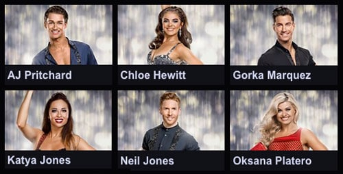 Strictly's new dancers for 2016