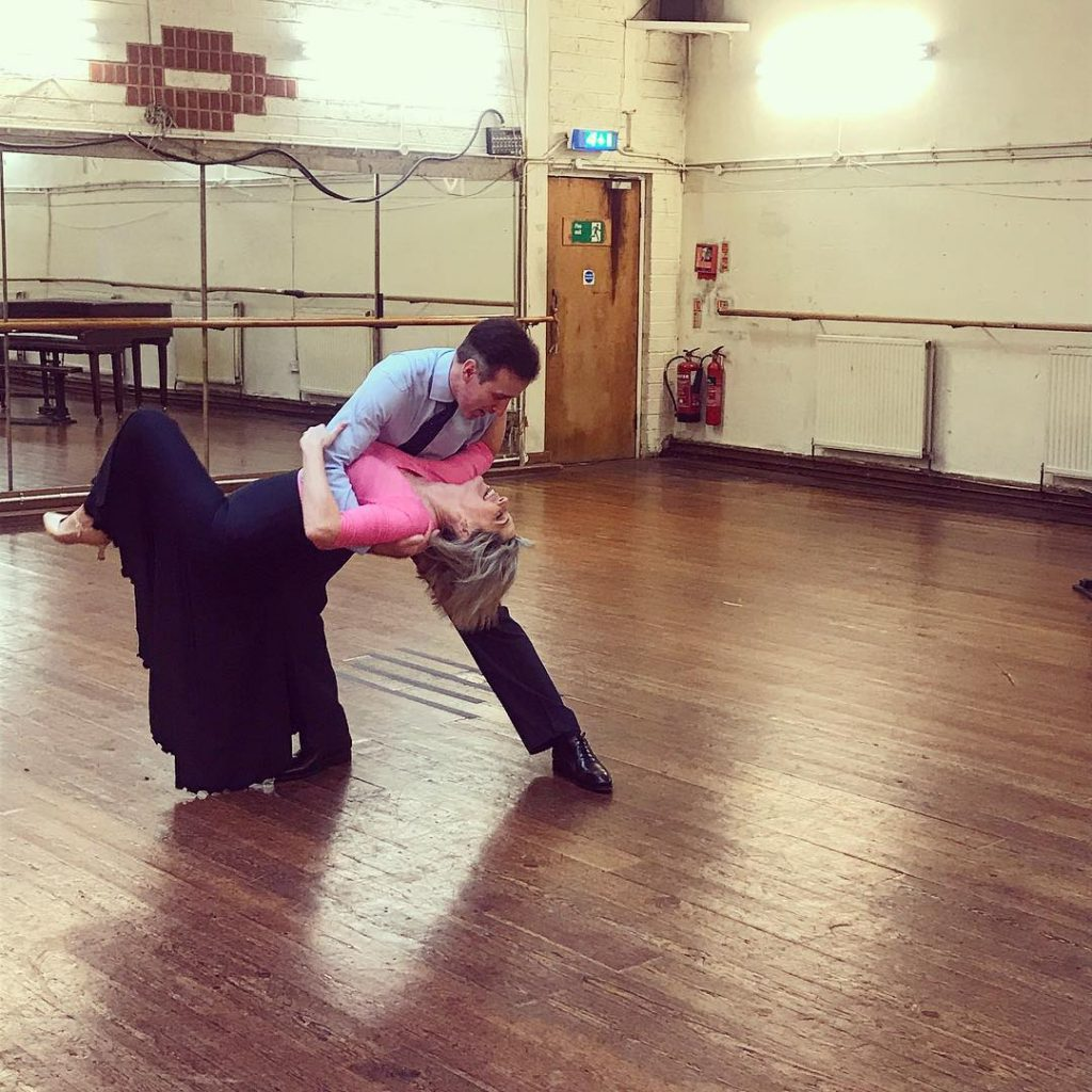 Ruth and Anton in Tango training